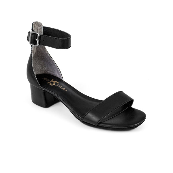 yosi samra black leather heel