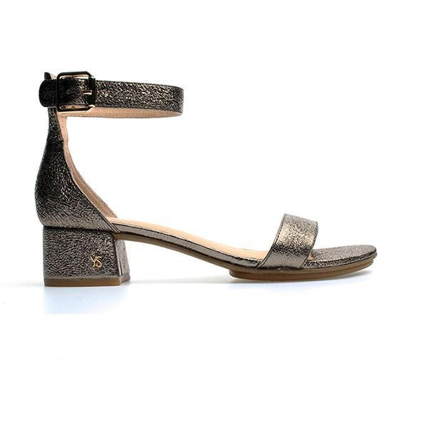 yosi samra dark gold metallic leather heel