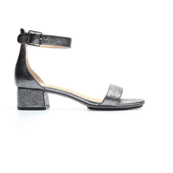 yosi samra pewter metallic leather heel