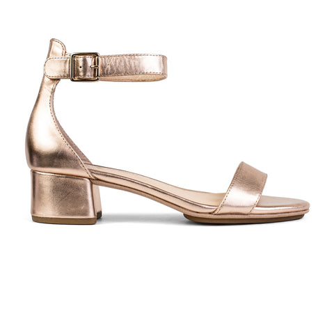 Daniel Dark Gold Textured Leather Heel