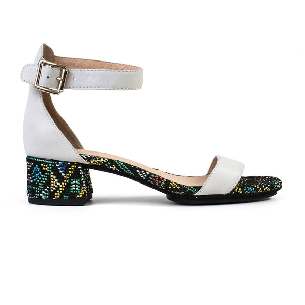 yosi samra white leather heel