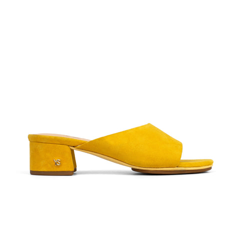Rivington Yellow Scaled Leather Flip Flops