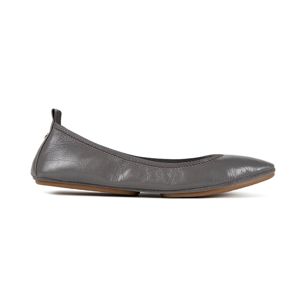 Vienna Smoke Capri Leather Pointed Toe Flat