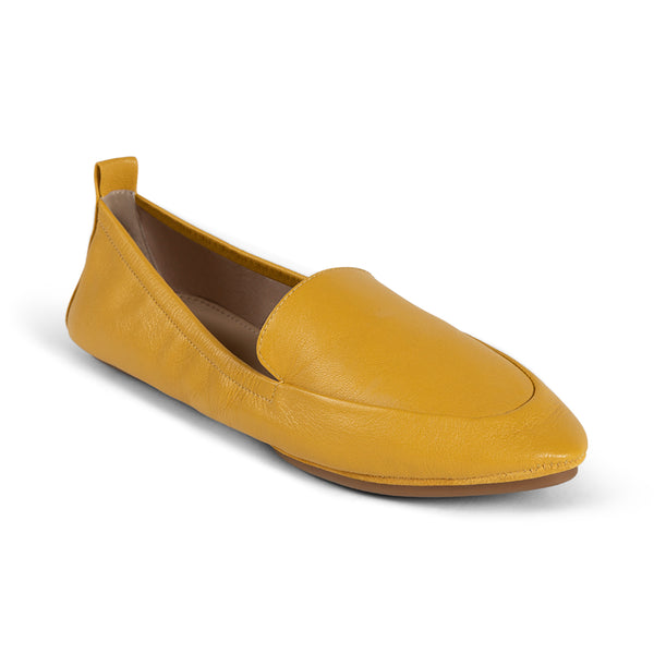 Skyler Mustard Capri Leather Loafer