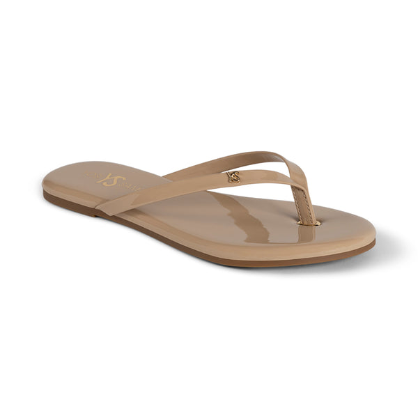 Rivington Nude Patent Leather Flip Flop