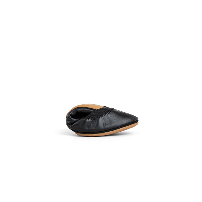 Lexington Black Vegan Leather Ballet Flat