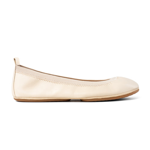 Lexington Ivory Vegan Leather Ballet Flat