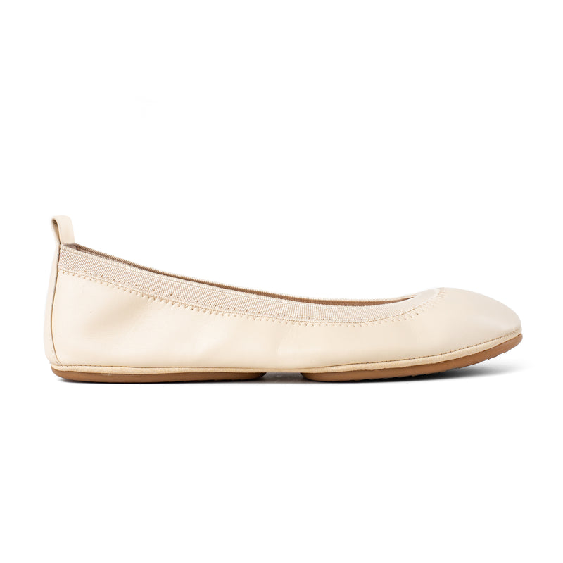 Samara Ivory Vegan Leather Ballet Flat