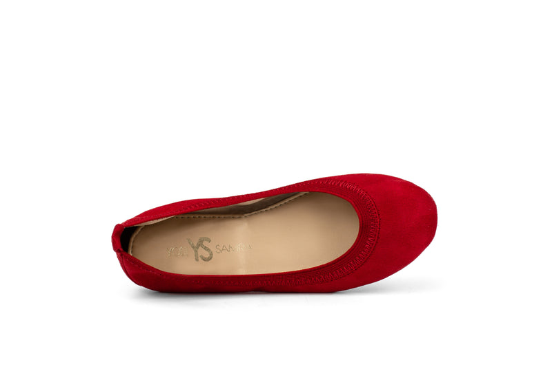 Miss Samara Red Microsuede Ballet Flat - Children's