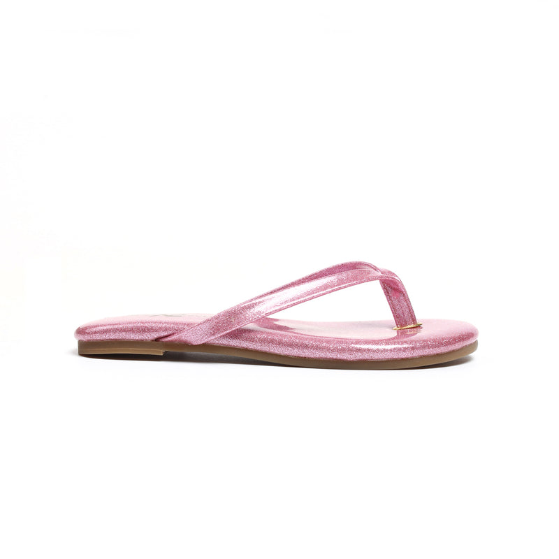 Miss Rivington Light Pink Patent Glitter Flip Flop - Children's