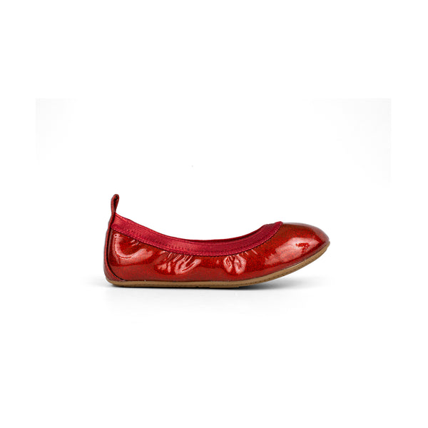 Miss Samara Red Patent Glitter Ballet Flat - Children's