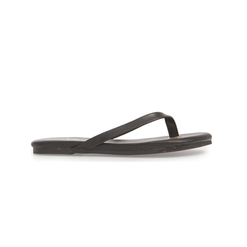 yosi samra black leather flip flop kids
