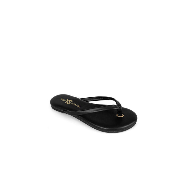 yosi samra kids flip flops black leather