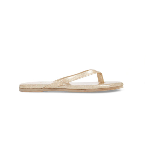 yosi samra gold glitter leather flip flop kids