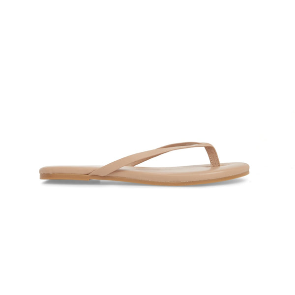 yosi samra tan nude leather flip flop kids