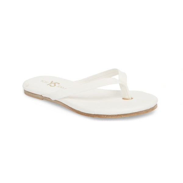 yosi samra white leather flip flop kids