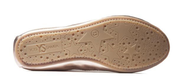 miss samara rose gold metallic ballet flat yosi samra kids