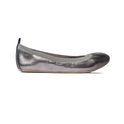 Miss Samara Rose Gold Metallic Ballet Flat - Children's