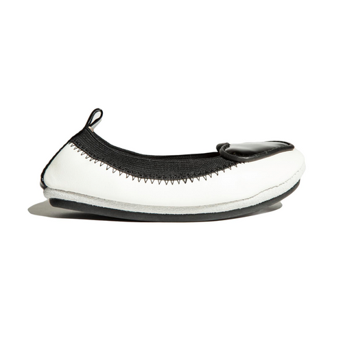 Yosi Samara black white heart ballet flat kids