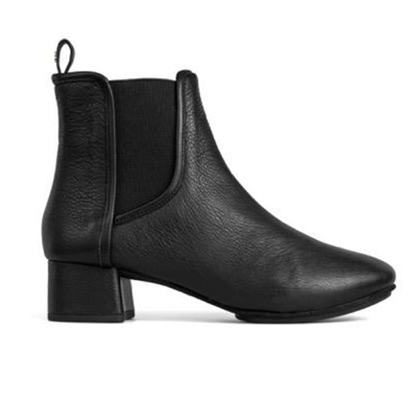 Yosi Samra Black Leather Bootie