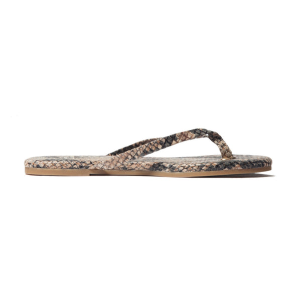 Yosi Samra serpent beige snake leather flip flop
