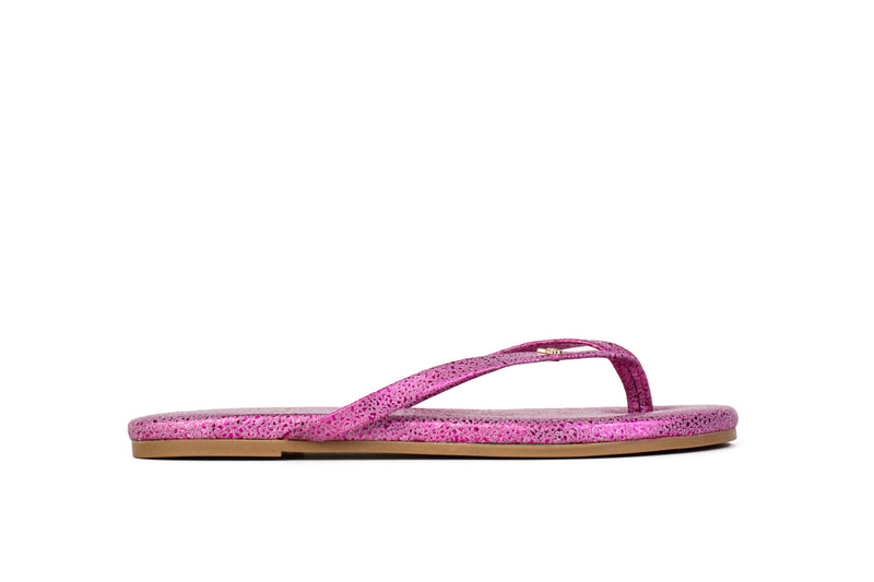 Rivington Fuchsia Speckled Leather Flip Flop