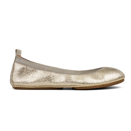 Samara Champagne Speckled Leather Ballet Flat