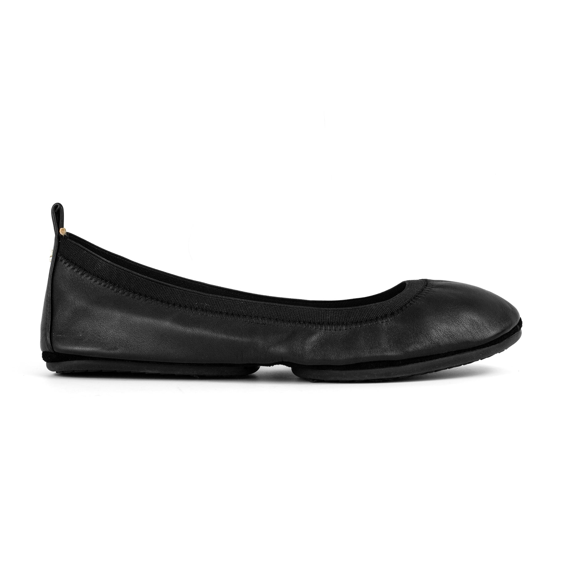 Yosi Samra Black Leather Ballet flat