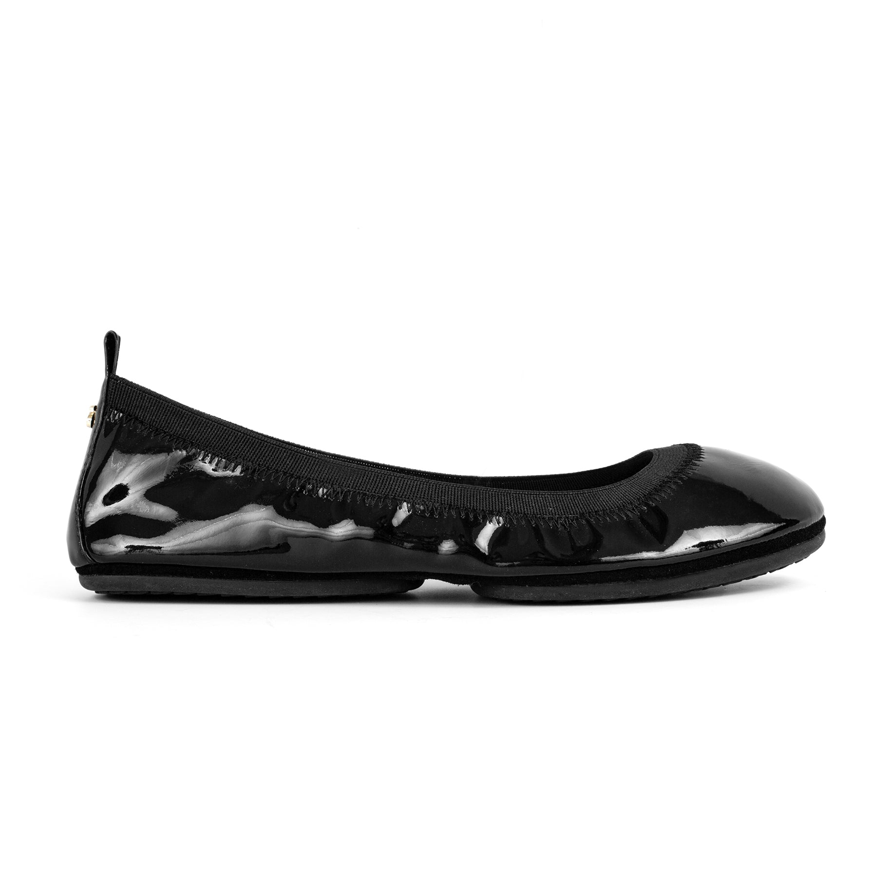 yosi samra black patent leather ballet flat foldable