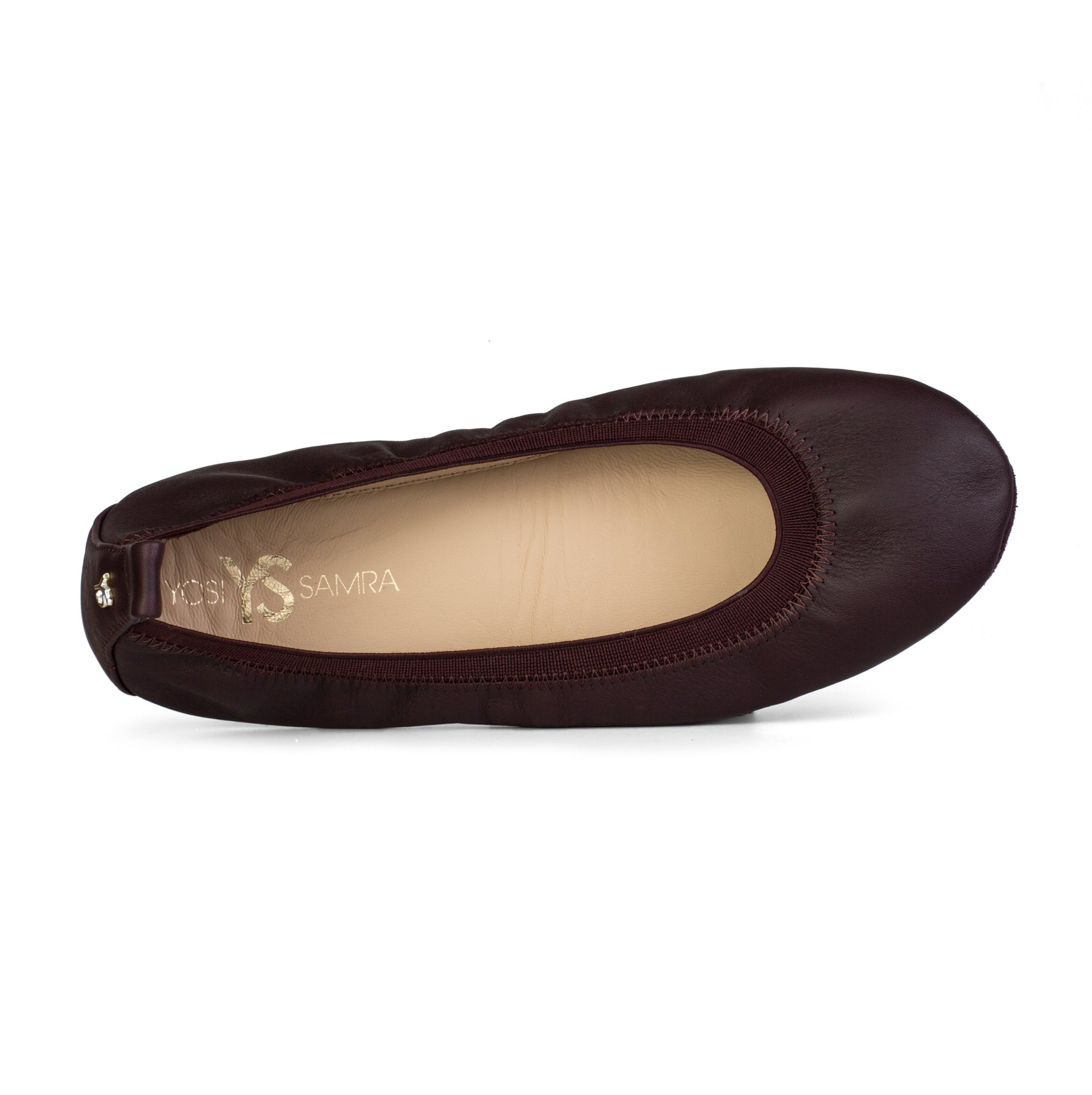 yosi samra fig purple leather ballet flat