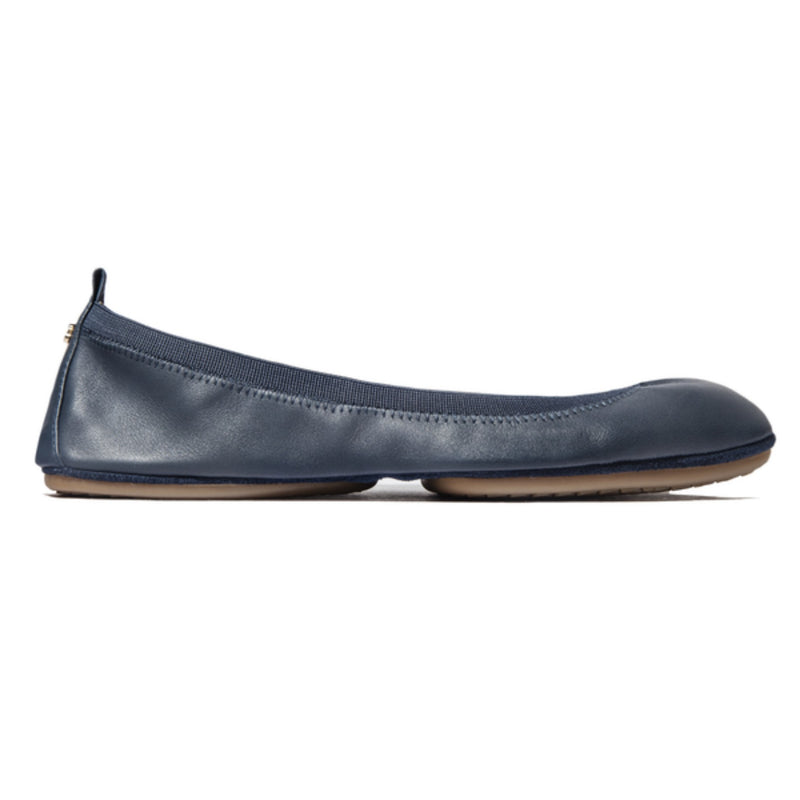 yosi samra deep navy leather ballet flat