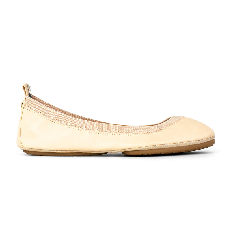 Yosi Samra Nude Leather Ballet Flat