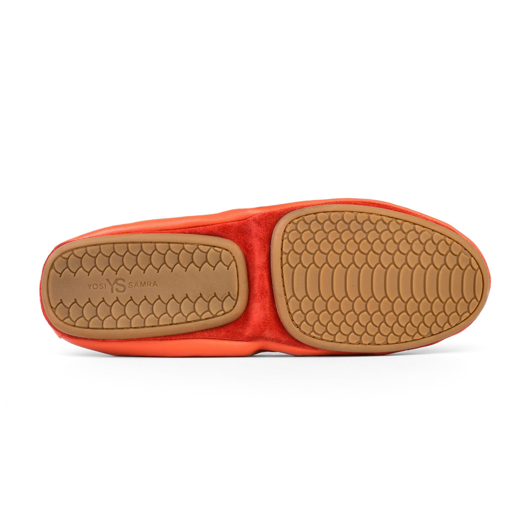 yosi samra orange leather ballet flat