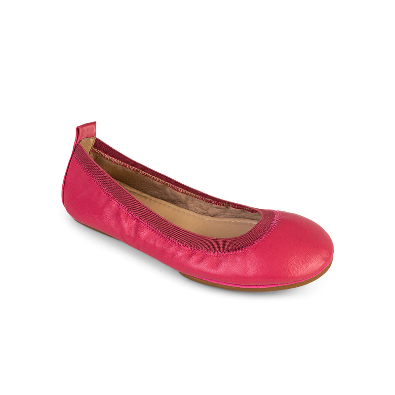 Yosi Samara Pink Leather Ballet Flat