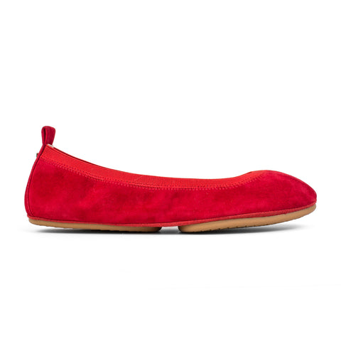 Samara Orange Leather Ballet Flat