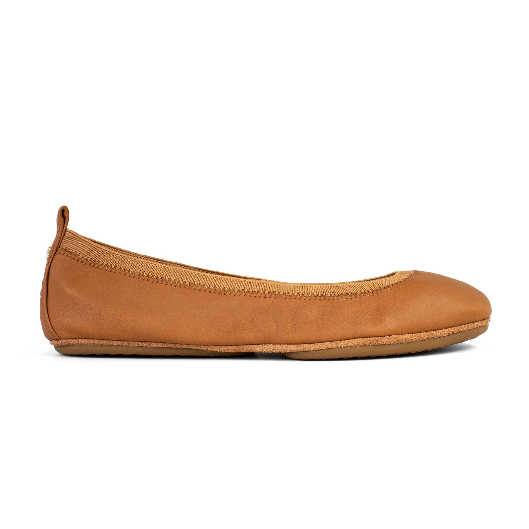 Yosi Samra Whiskey Brown Leather Ballet Flat