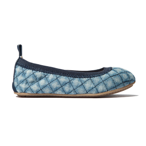 yosi samra blue denim ballet flat kids