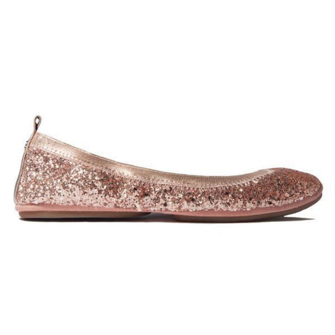 Daniel Rose Gold Leather Heel
