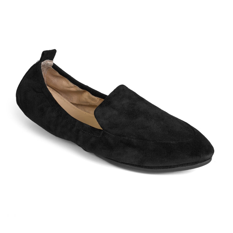 yosi samra black suede leather loafer