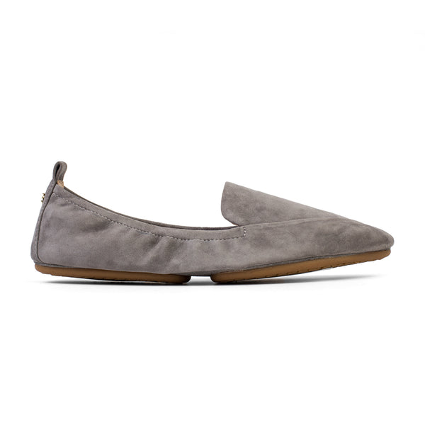 Yosi Samra Dark Grey Suede Loafer