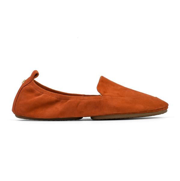 yosi samra rust brown orange suede leather loafer