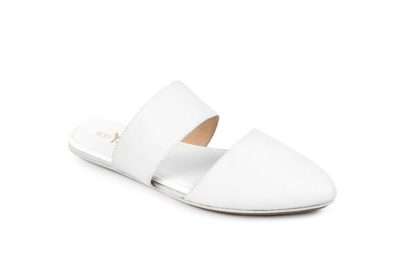 Vicky White Nappa Leather Mule