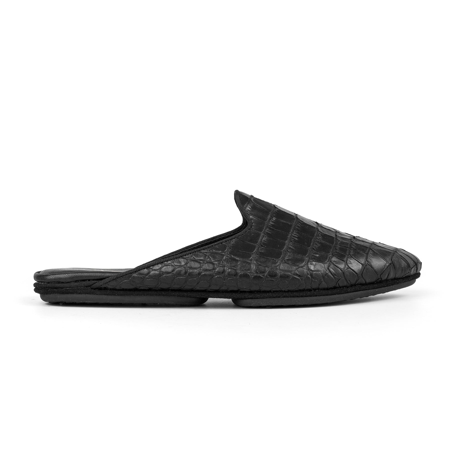 Yosi Samra Croco Leather Printed Mule