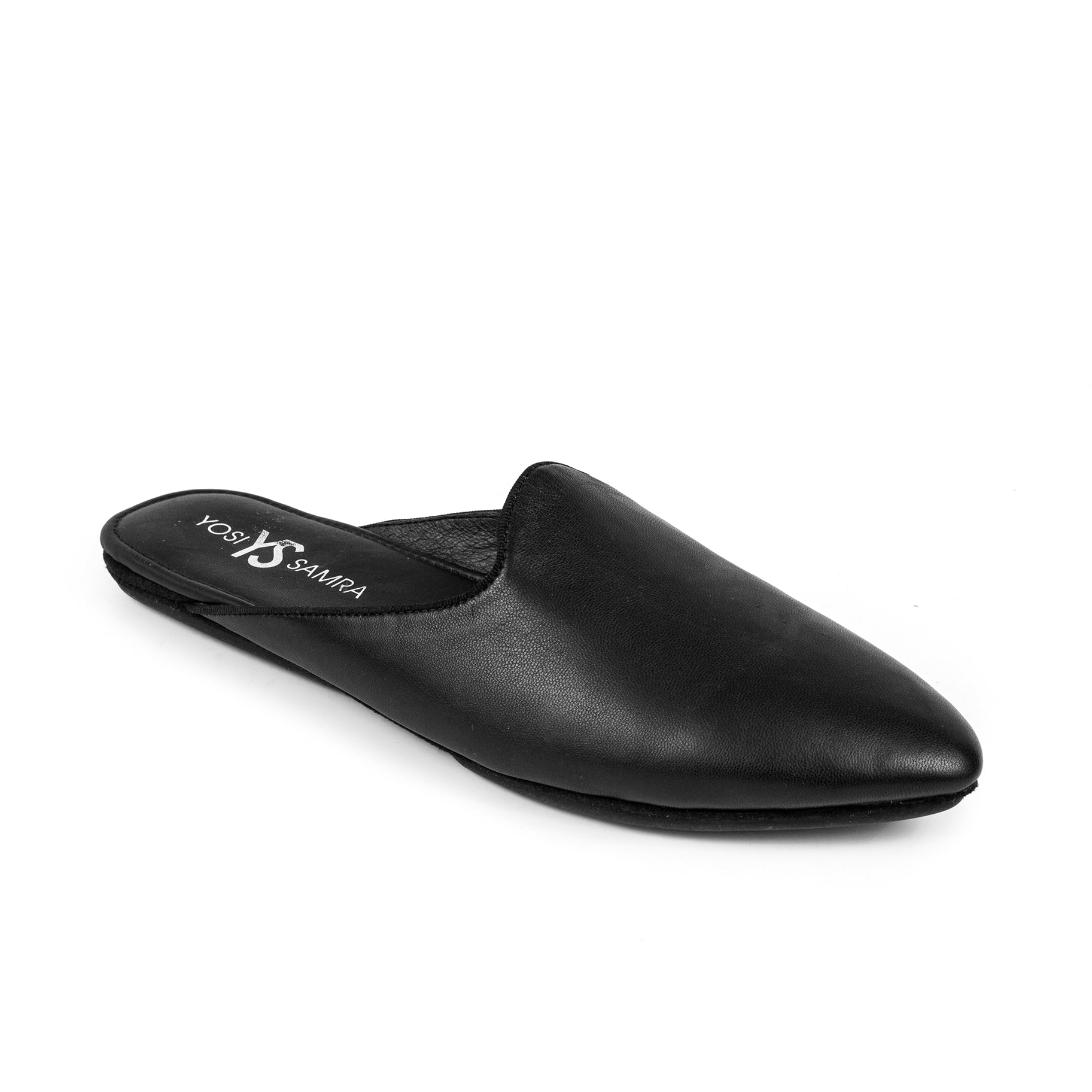 yosi samra black leather mule