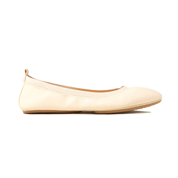 yosi samra nude leather pointed ballet foldable flat