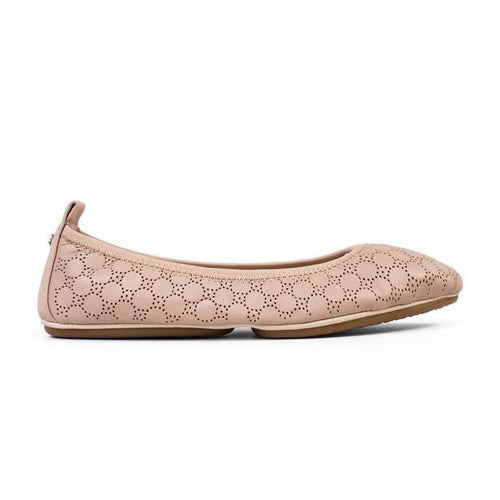 Vienna Nude Perforated Leather Ballet Flat