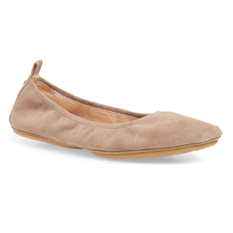 yosi samra stone grey suede leather ballet flat