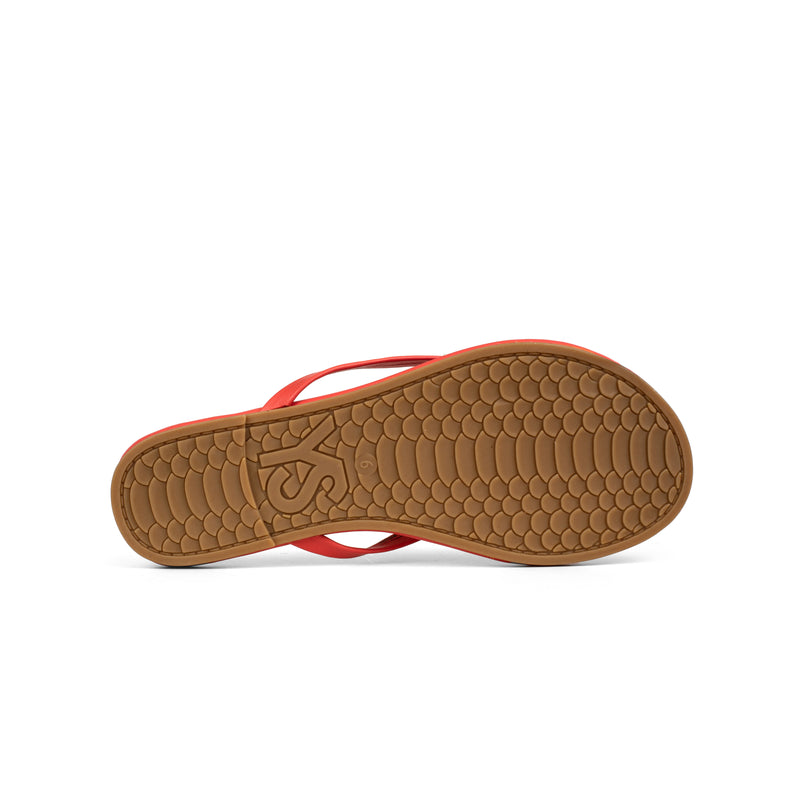 Rivington Coral Nappa Leather Flip Flop