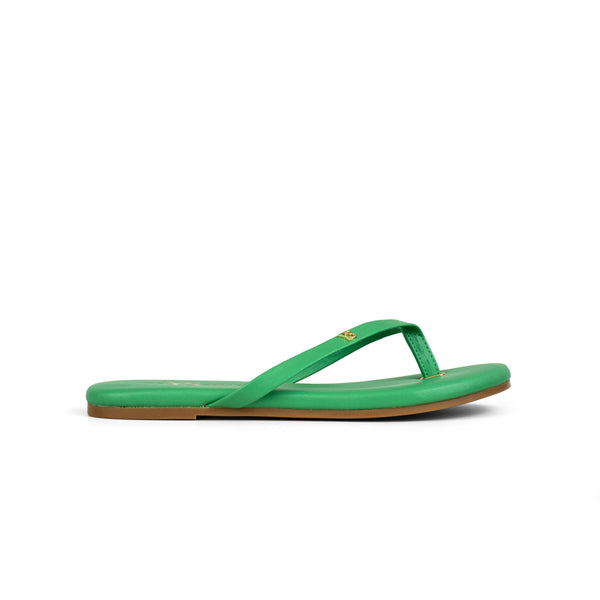 Rivington Kelly Green Nappa Leather Flip Flop