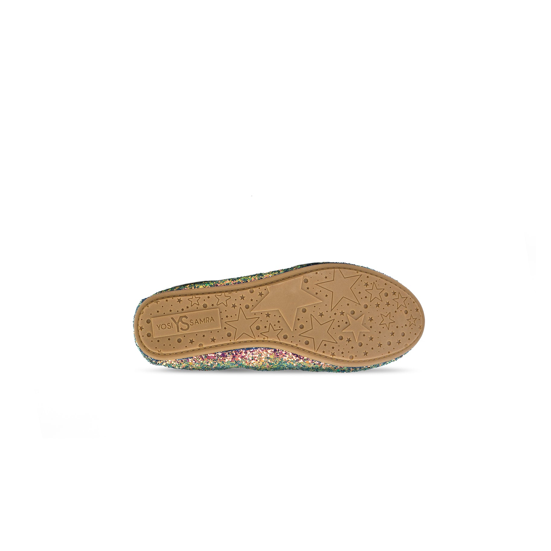Miss Samara Green Iridescent Glitter Ballet Flat - Children's